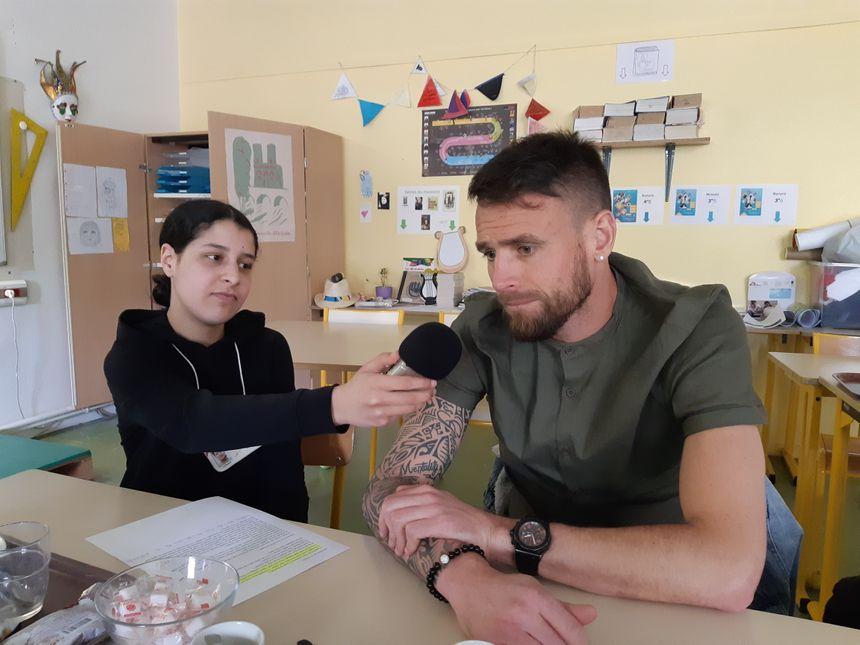 Interview d'Anthonye le Tallec l'attaquant de l'USO Foot