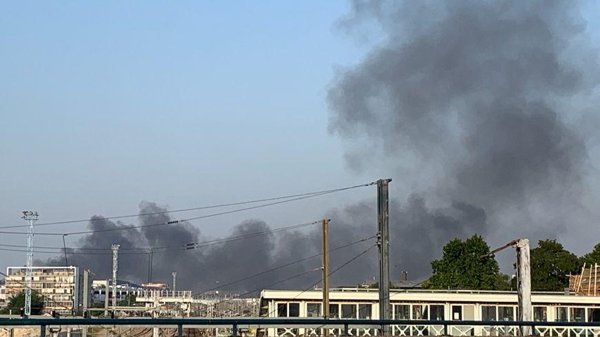 Incendie rue de l'Industrie à Bobigny le mercredi 26 juin 2019