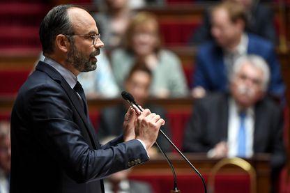 Le chef du gouvernement Edouard Philippe délivre son deuxième discours de politique générale à l'Assemblée Nationale le 12 juin 2019.
