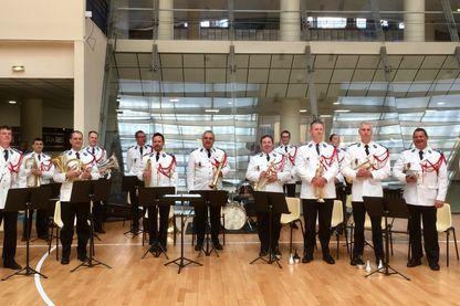 La batterie-fanfare de la Musique des Gardiens de la paix, orchestre de police quasi centenaire.