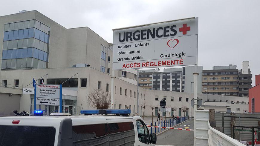 L'entrée des urgences du CHU de Lille