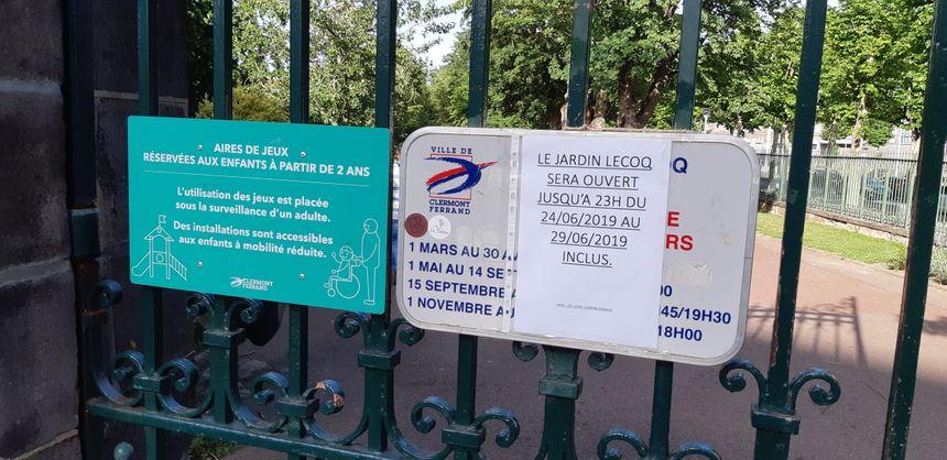 """Jardin Lecoq : un petit coin de verdure et de """"fraîcheur"""" pour fuir la fournaise clermontoise"""