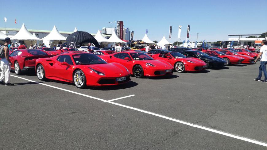 """L'opération """"500 Ferrari contre le cancer"""" a eu lieu pour la première fois sur quatre jours."""