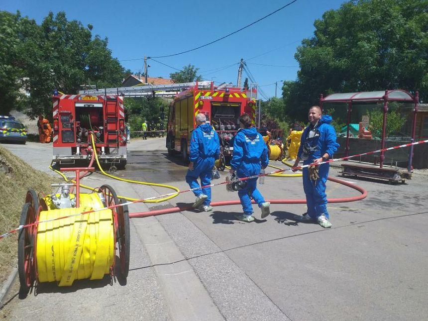 Les pompiers spécialistes des risques chimiques