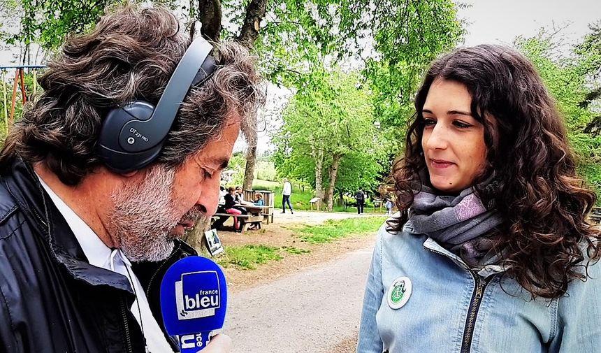 Jean François Pujante, animateur de France Bleu Pays d'Auvergne et Agathe, co-présidente de l'association ABConservation