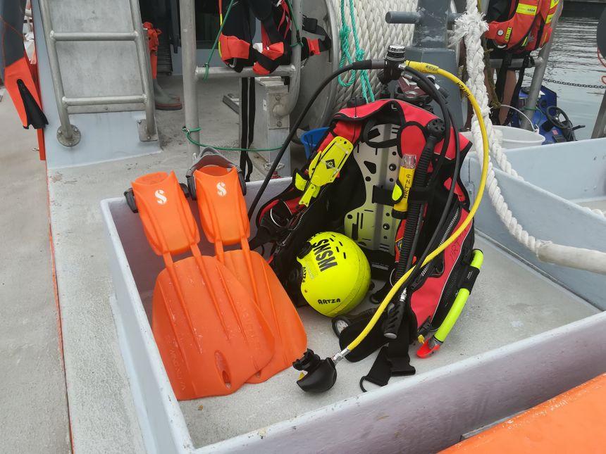 Le matériel des plongeurs