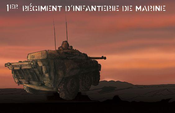 """Couverture de la BD du 1er RIMA d'Angoulême """"Chargeur prêt"""""""