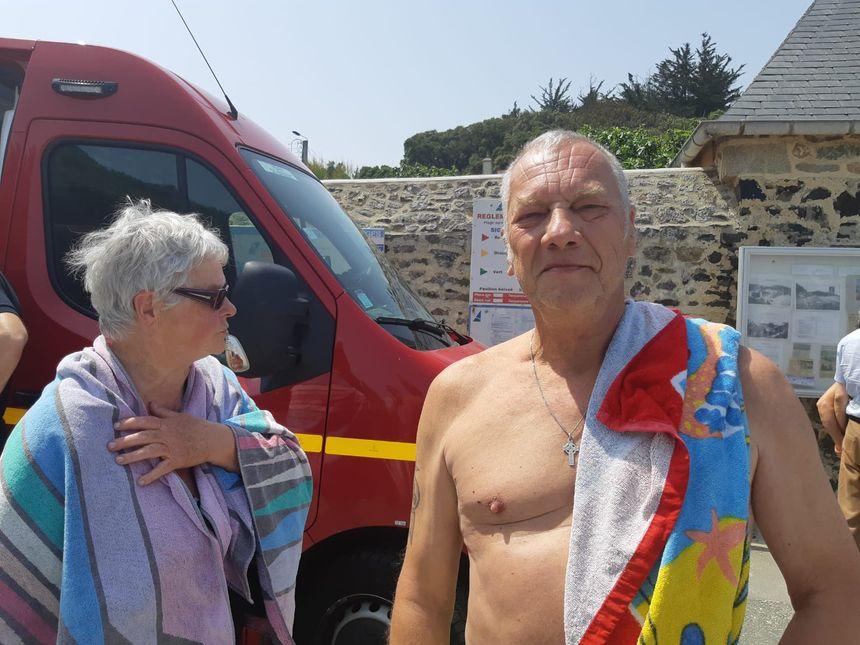 Gérard l'homme secouru avec son épouse