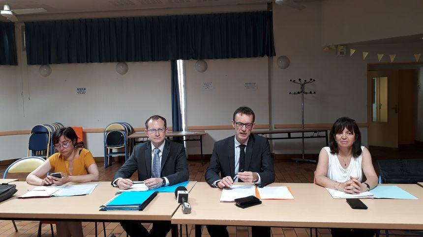 Ville, préfecture, police et procureur, lors de la conférence de presse, annonçant la création du GLTD