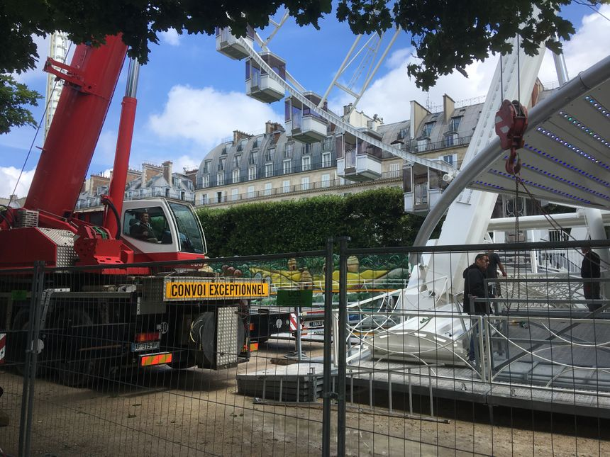 Construction parc attraction Tuileries