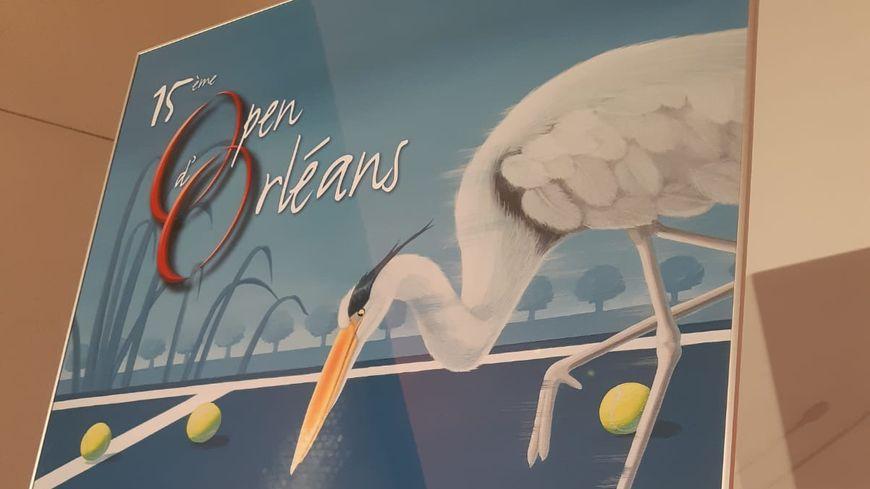 Affiche du 15ème open de tennis d'Orléans