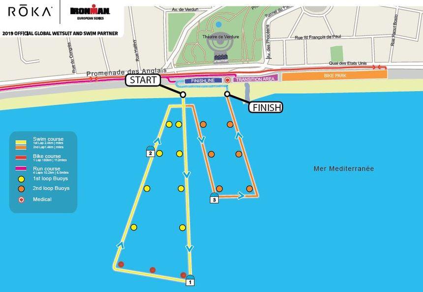 Le parcours natation de l'Ironman de Nice