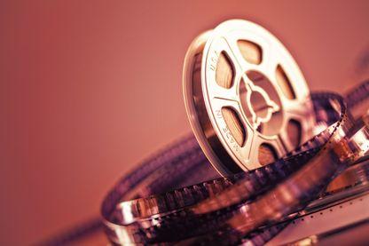 Gros plan sur une bobine de film