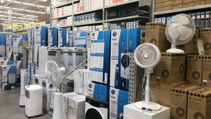 Le magasin Leroy Merlin de Chambray-les-Tours a vendu plus de 500 ventilateurs ce week-end.