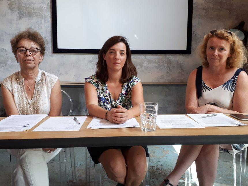 De gauche à droite : Régine Lebail, Laurianne Deniaud et Gaëlle Bénizé Thual.