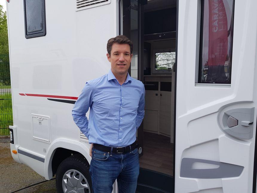 Julien Toumieux, le PDG du groupe Auyantepuy qui regroupe 8 concessions de camping-cars.