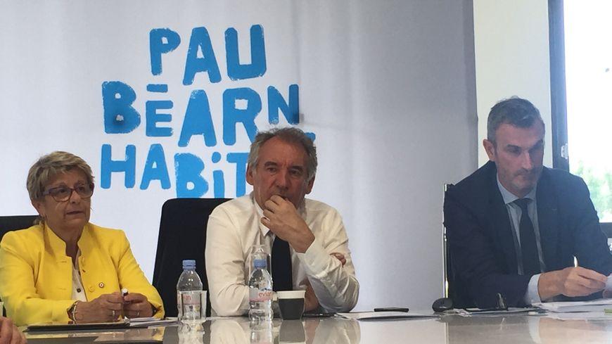 Josy Poueyto, François Bayrou et Olivier Subra.