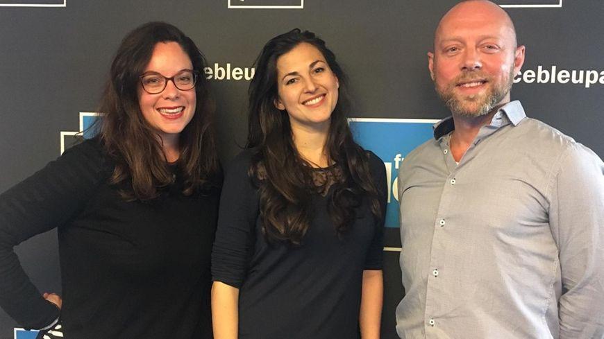 Delphine Lebeau, responsable de la communication, Ségolène Alunni et Julien Fanthou alias Patachtouille