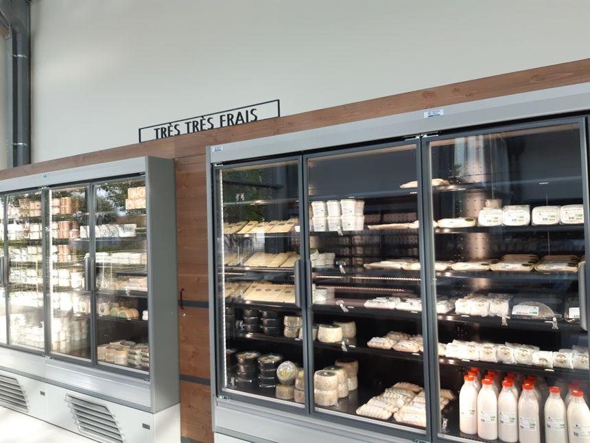 Des fromages et des produits laitiers