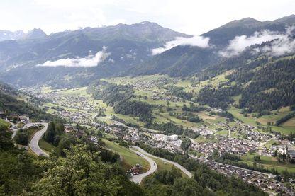 La commune de Bagnes dans le Valais suisse en 2017