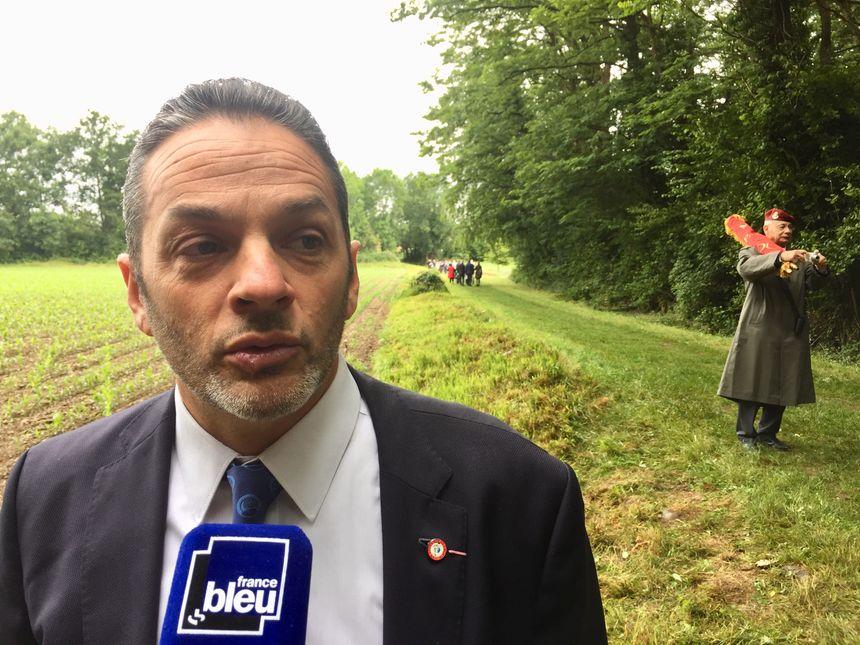 Eric Amouraben après la cérémonie en hommage aux fusillés d'Idron.