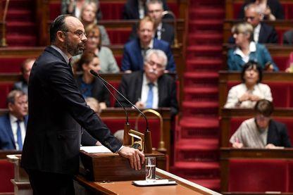 Le Premier ministre Edouard Philippe prononce son discours de politique générale à l'Assemblée nationale le 12 juin 2019