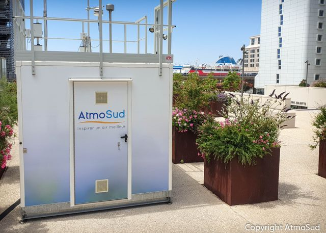 Nouvelle station de mesure de la pollution de l'air dans le quartier Euroméditerranée, l'un des plus exposés.