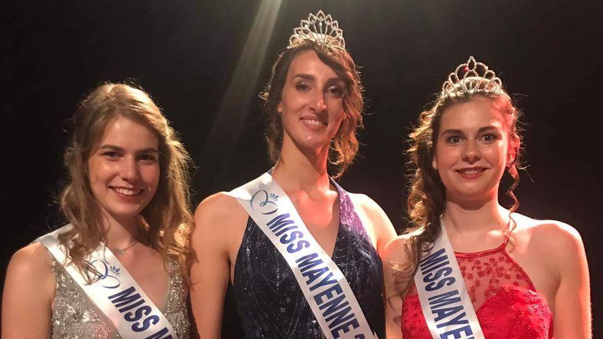 La nouvelle Miss Mayenne et ses deux dauphines