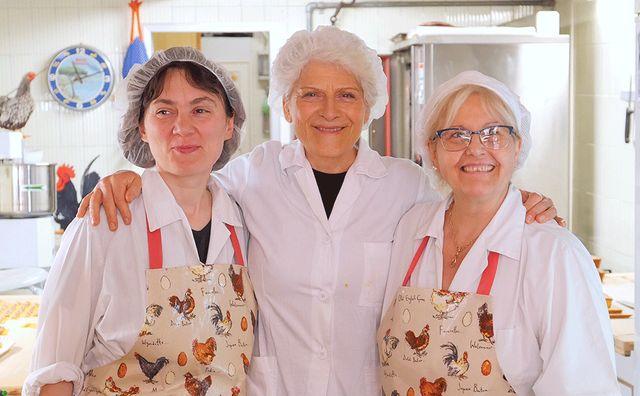 Renata Zappoli avec ses filles Danièla et Monica