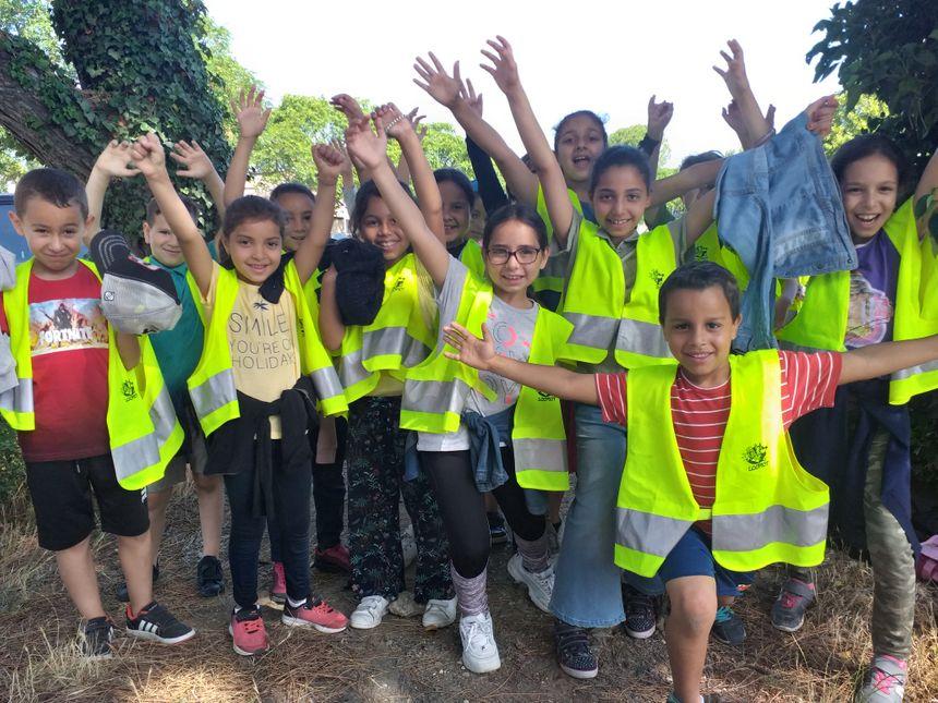 Les enfants ont ramassé près de 123 kilos de déchets en une matinée.