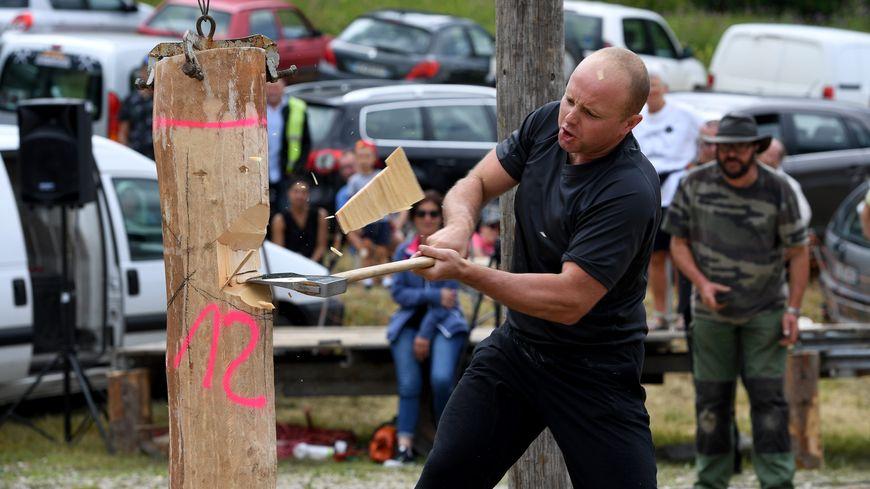 Le jurassien Sébastien Masnada qualifié pour la finale du championnat de France de bûcheronnage (photo d'archives)