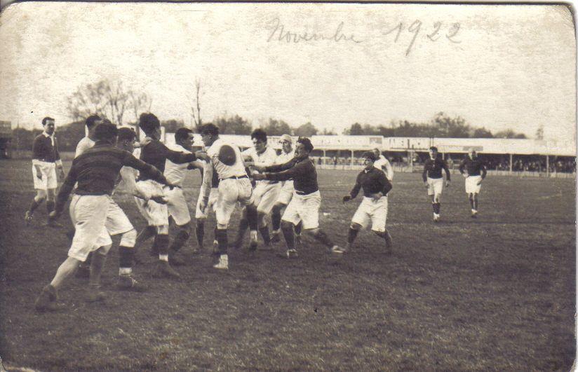 En 1922, Sainte-Foy-la-Grande se passionnait déjà pour le rugby.