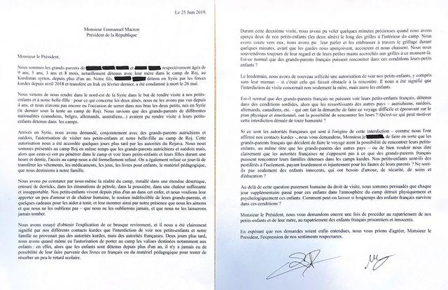 De retour en France, monsieur et madame Lopez ont écrit leur désespoir dans une lettre adressée à Emmanuel Macron