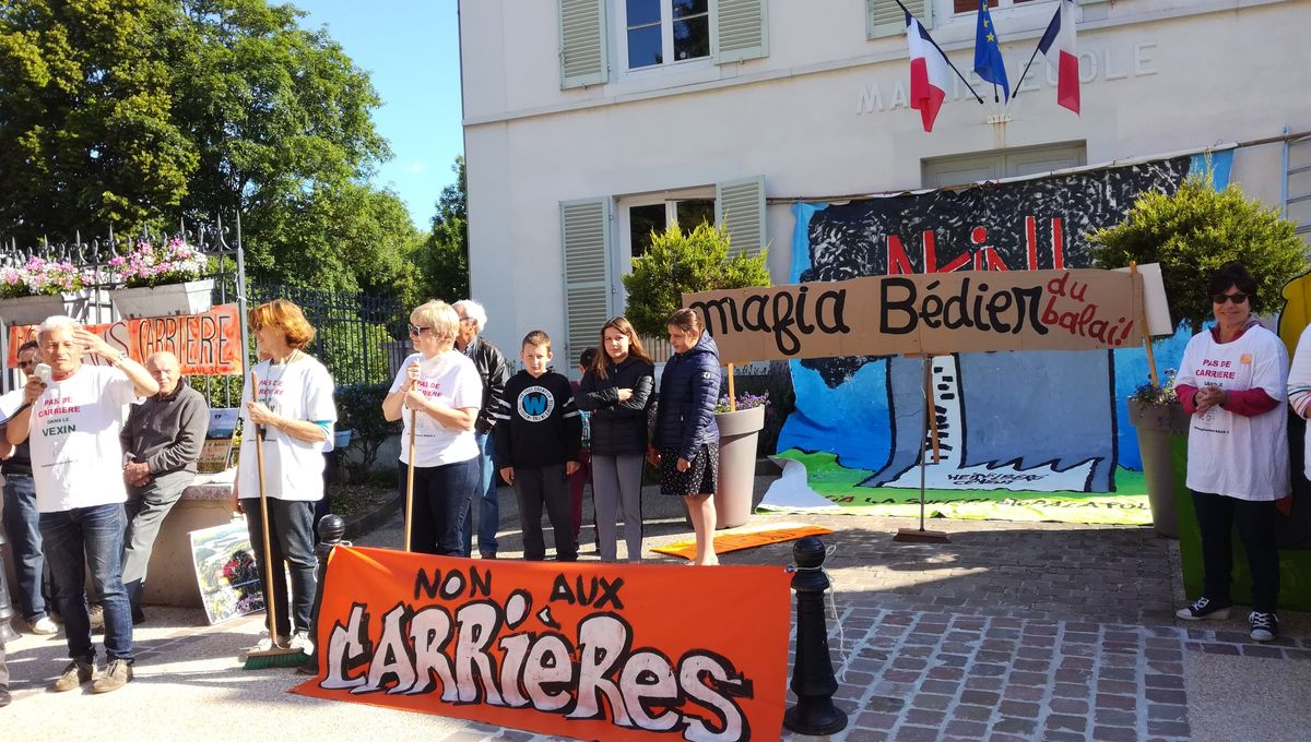 Yvelines : les habitants de Brueil-en-Vexin se mobilisent contre le projet de Calcia d'étendre sa carrière