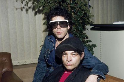 """Le duo """"Suicide"""" composé de Martin Rev et Alan Vega à Londres en 1968."""