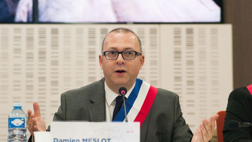 Damien Meslot lors de son élection en 2014.