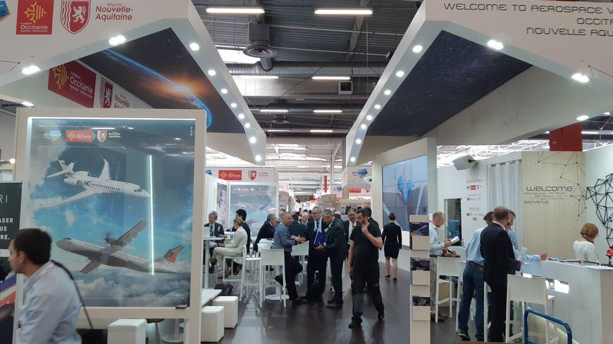 Cette année, le Pavillon Occitanie/Nvelle Aquitaine accueillait plus de 80 entreprises d'Occitanie.