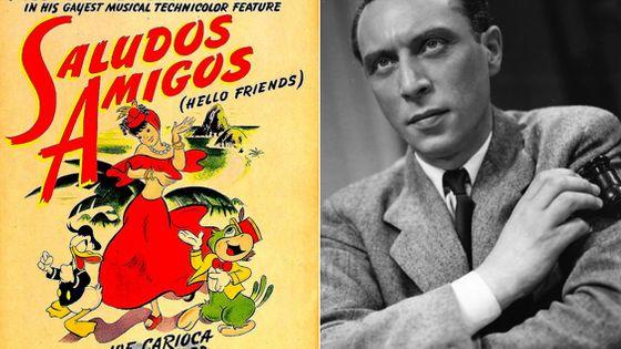 """1. Affiche de """"Saludos Amigos """" de  Walt Disney / 2. Louis Jouvet"""
