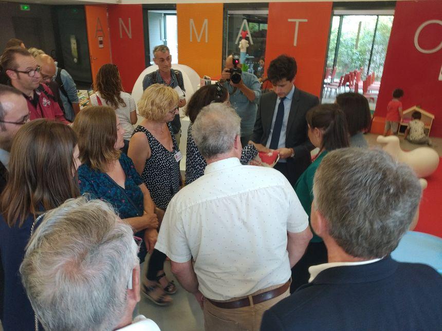 Visite de la médiathèque Andrée Chedid