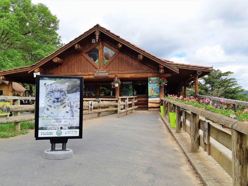 Entrée du Parc animalier d'Auvergne d'Ardes sur Couze