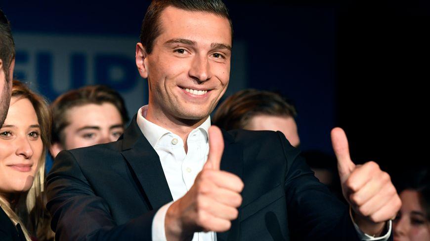 Jordan Bardella lors de la soirée électorale des européennes
