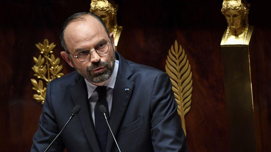 Édouard Philippe lors de sa déclaration de politique générale à l'Assemblée nationale, le 12 juin 2019