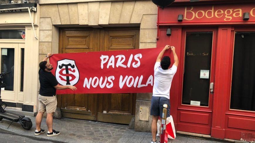 Les supporters toulousains ont investi le quartier de Saint-Germain-des-Prés