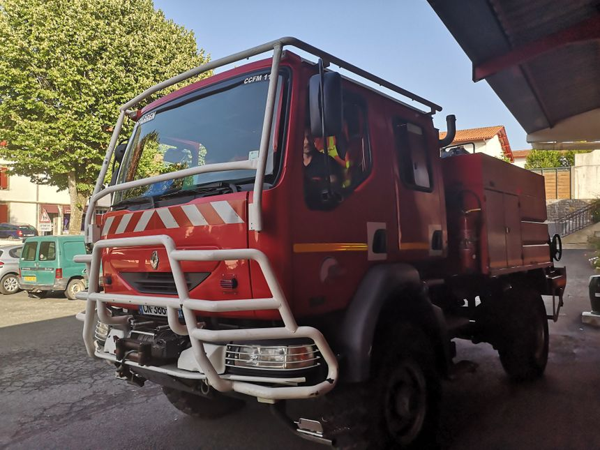 Les pompiers d'Hasparren de retour hier soir à la caserne