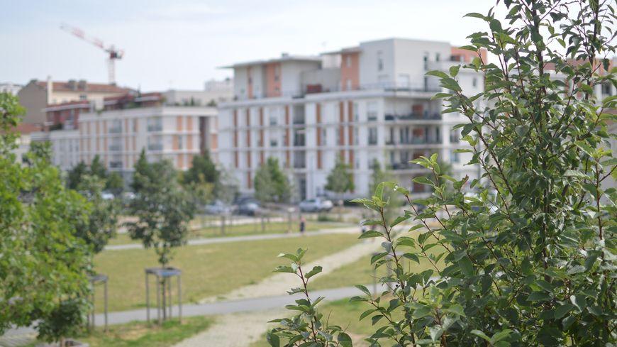 Dans le quartier de la Cité du Design de Saint-Etienne.
