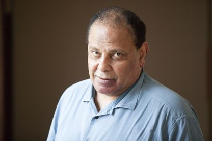 Portrait de l'écrivain Alaa el-Aswany ,19 septembre 2018.