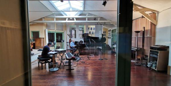 Daniel Cabanzo et Jean-Marie Cottet en enregistrement au Studio de Meudon