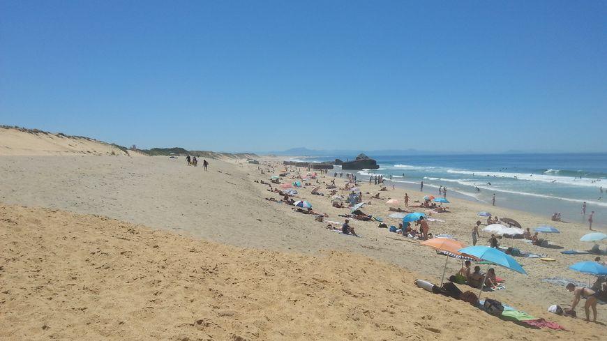 Beaucoup d'utilisateurs de la plage du Santocha à Capbreton ont remarqué la différence de couleur du sable entre le haut et le bas de la plage