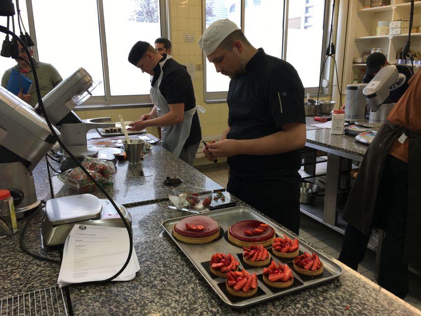 Tous les desserts réalisés lors de cette matinée ont été servis au self du CFA.
