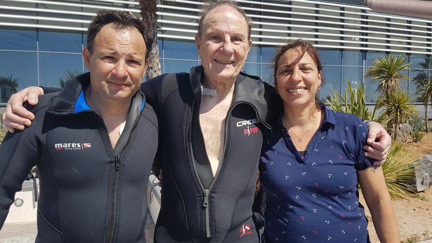 Roger Citerici était soutenu par son fils et l'une de ses filles pendant toute la traversée.